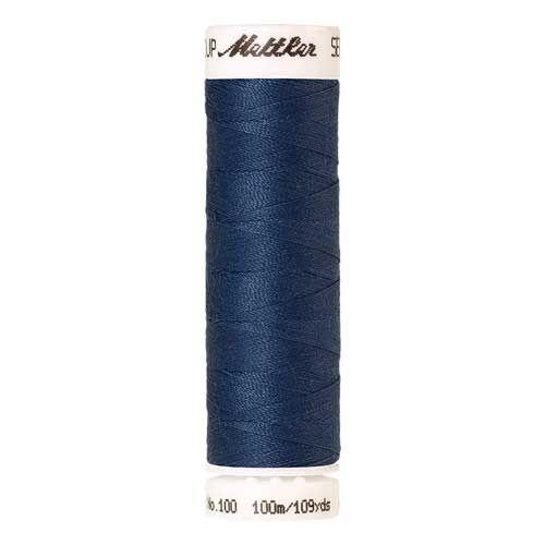 Mettler Threads - Seralon Polyester - 100m Reel - Steel Blue 1316