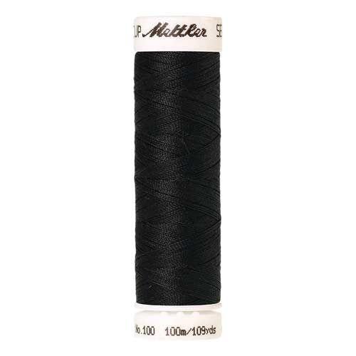 Mettler Threads - Seralon Polyester - 100m Reel - Charcoal 1282