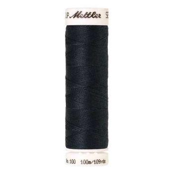 Mettler Threads - Seralon Polyester - 100m Reel - Drab Dark Blue 1242