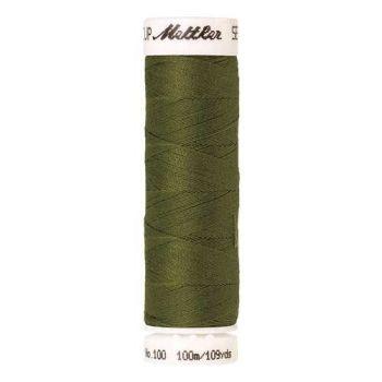 Mettler Threads - Seralon Polyester - 100m Reel - Moss Green 0882