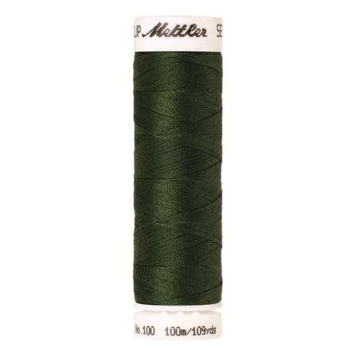 Mettler Threads - Seralon Polyester - 100m Reel - Backyard Green 0842