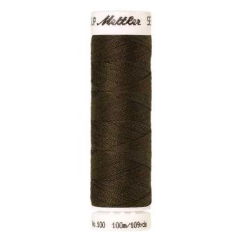 Mettler Threads - Seralon Polyester - 100m Reel - Golden Brown 0667