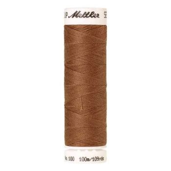 Mettler Threads - Seralon Polyester - 100m Reel - Dark Tan 0287