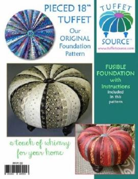 "Tuffet Source - Fusible Foundation Interfacing & Pattern - Round - 18"" Tuffet"