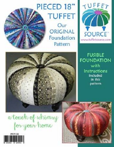 Tuffet Source - Fusible Foundation Interfacing & Pattern - Round - 18