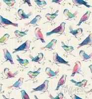Hoffman Fabric - All a Twitter Birds - Digital Print - 100% Cotton - 1/4m+