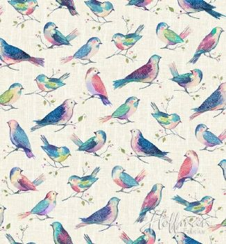Hoffman Fabric - All a Twitter Birds - Digital Print - 100% Cotton - 1/4m+