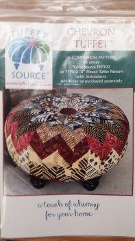 "Tuffet Source - Chevron Tuffet Pattern - 18"" Round Tuffet"
