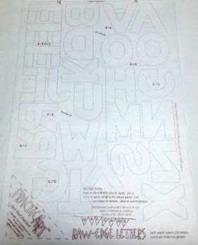 Practical Art - Raw Edge Letters Fusible Interfacing - For applique
