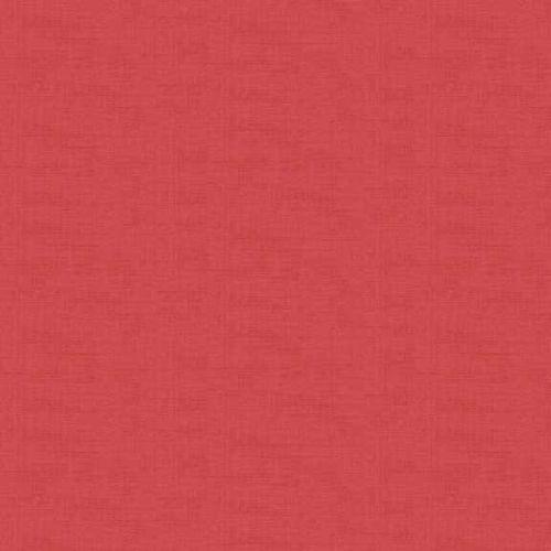 Makower Fabric - Linen Texture Look - Old Rose - 100% Cotton
