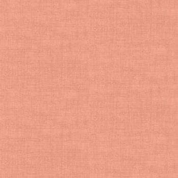 Makower Fabric - Linen Texture Look - Coral - 100% Cotton