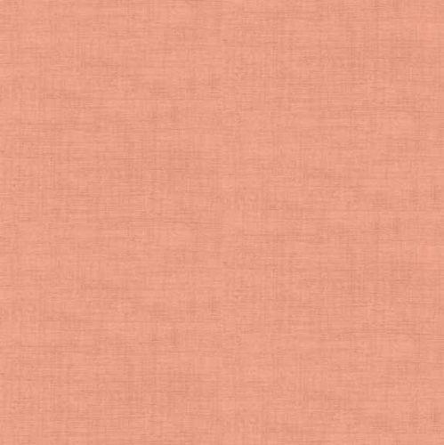 Makower Fabric - Linen Texture Look - Coral - 100% Cotton