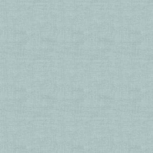 Makower Fabric - Linen Texture Look - Duck Egg - 100% Cotton