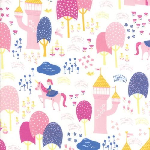 Moda Fabric - Once Upon A Time - Palace Grounds - White - 100% Cotton