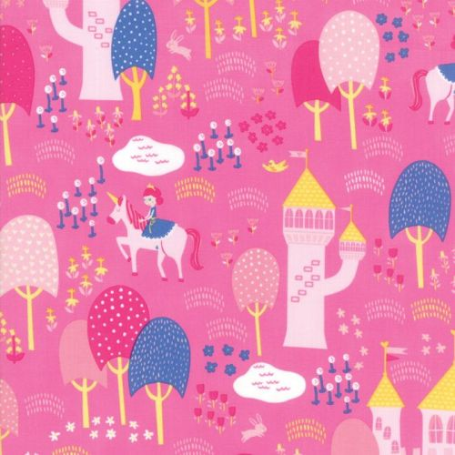 Moda Fabric - Once Upon A Time - Palace Grounds - Peony - 100% Cotton