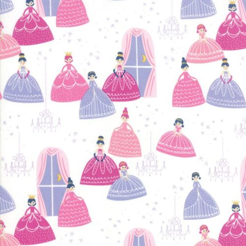 Moda Fabric - Once Upon A Time - Grand Ball - White - 100% Cotton