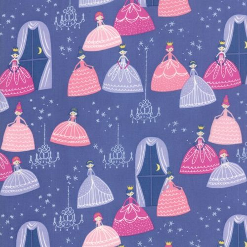 Moda Fabric - Once Upon A Time - Grand Ball - Periwinkle - 100% Cotton