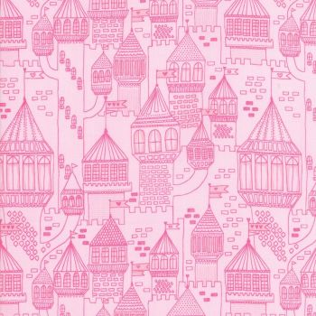 Moda Fabric - Once Upon A Time - Castle On The Hill - Slipper - 100% Cotton