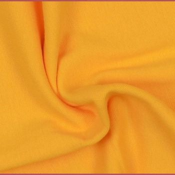 Stretch Ribbing/Collar/Cuff Fabric - Plain Yellow LW - 95% Cotton 5% Lycra Half Metre