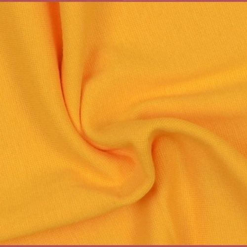 Stretch Ribbing/Collar/Cuff Fabric - Plain Yellow LW - 96% Cotton 4% Lycra