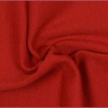 Stretch Ribbing/Collar/Cuff Fabric - Plain Red LW - 96% Cotton 4% Lycra Half Metre