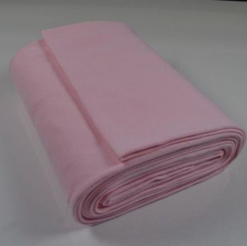 Stretch Ribbing/Collar/Cuff Fabric - Plain Baby Pink HW - 95% Cotton 5% Lycra Half Metre