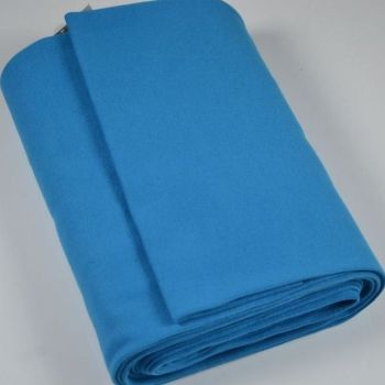 Stretch Ribbing/Collar/Cuff Fabric - Plain Turquoise HW - 95% Cotton 5% Lycra Half Metre