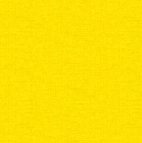 Makower Fabric - Linen Texture Look - Sunshine - 100% Cotton