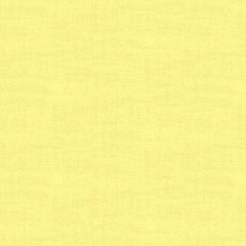 Makower Fabric - Linen Texture Look - Primrose - 100% Cotton