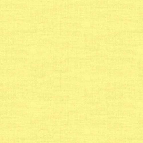 Makower Fabric - Linen Texture Look - Primrose - 100% Cotton