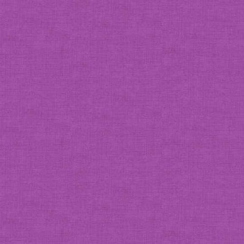 Makower Fabric - Linen Texture Look - Hyacinth - 100% Cotton