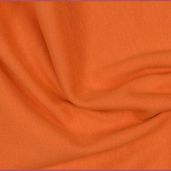 Stretch Ribbing/Collar/Cuff Fabric - Plain Orange LW - 96% Cotton 4% Lycra Half Metre