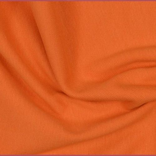 Stretch Ribbing/Collar/Cuff Fabric - Plain Orange LW - 96% Cotton 4% Lycra