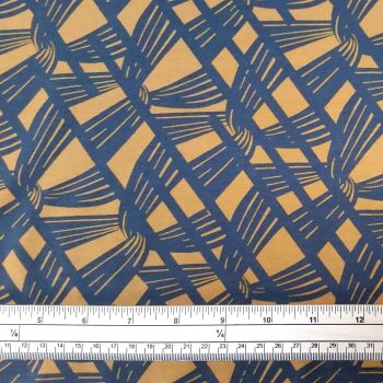 Stretch Jersey Knit Fabric - Grey Knit - Mustard - 95% Cotton 5% Lycra Half Metre