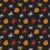 The Big Bang Theory Fabric - Atoms - Black - 100% Cotton - 1/4m+