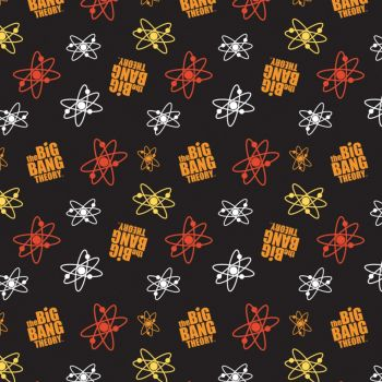 The Big Bang Theory Fabric - Atoms - Black - 100% Cotton - 1/4m+