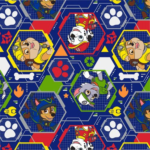 Paw Patrol Fabric - Mission Pawsible - Navy - 100% Cotton