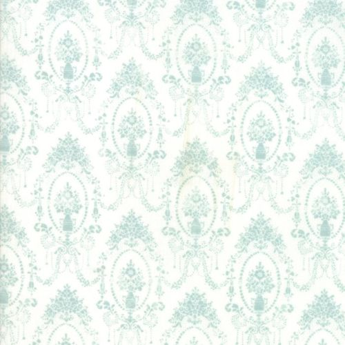 Moda Fabric - Amberley - Damask Topiaries - Sky Blue - 100% Cotton - 1/4m+
