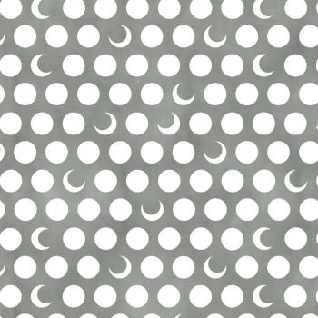 Timeless Treasures Fabric - Moon & Stars - Moons - Fog Grey - 100% Cotton - 1/4m+