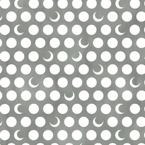 Timeless Treasures Fabric - Moon & Stars - Moons - Fog Grey - 100% Cotton -