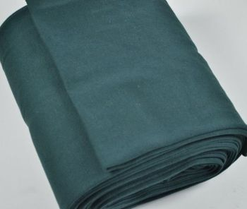 Stretch Ribbing/Collar/Cuff Fabric - Plain Dark Green HW - 95% Cotton 5% Lycra Half Metre