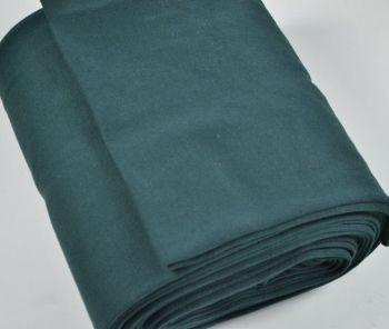 Stretch Ribbing/Collar/Cuff Fabric - Plain Dark Green HW - 95% Cotton 5% Lycra Half Metre