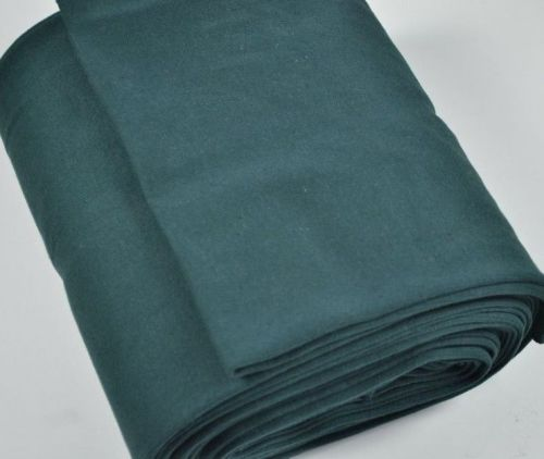 Stretch Ribbing/Collar/Cuff Fabric - Plain Dark Green HW - 95% Cotton 5% Ly