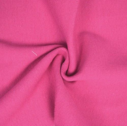 Stretch Ribbing/Collar/Cuff Fabric - Plain Pink HW - 95% Cotton 5% Lycra Ha