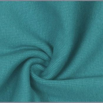 Stretch Ribbing/Collar/Cuff Fabric - Plain Petrol HW - 95% Cotton 5% Lycra Half Metre