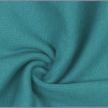 Stretch Ribbing/Collar/Cuff Fabric - Plain Petrol HW - 95% Cotton 5% Lycra Half Metre
