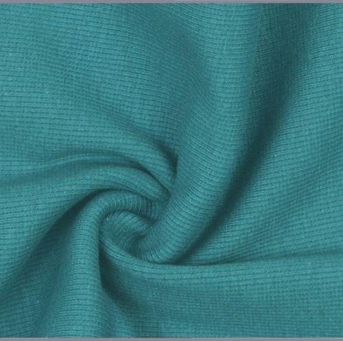 Stretch Ribbing/Collar/Cuff Fabric - Plain Petrol HW - 95% Cotton 5% Lycra