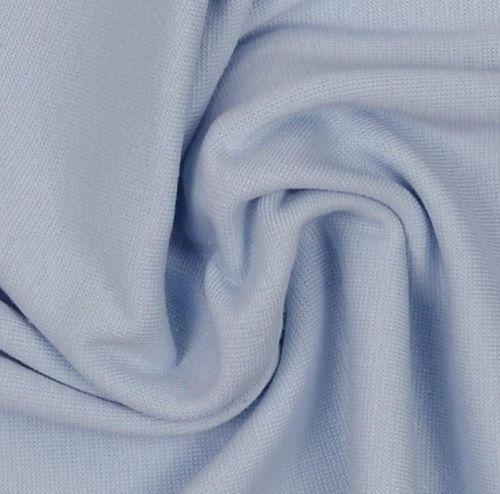 Stretch Ribbing/Collar/Cuff Fabric - Baby Blue LW - 96% Cotton 4% Lycra Hal