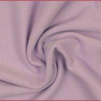 Stretch Ribbing/Collar/Cuff Fabric - Light Purple LW - 96% Cotton 4% Lycra Half Metre