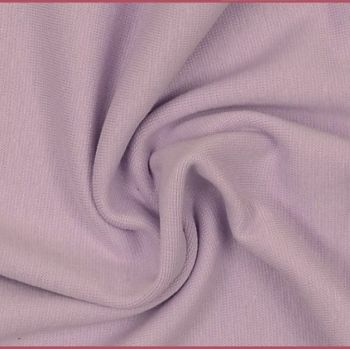 Stretch Ribbing/Collar/Cuff Fabric - Light Purple LW - 96% Cotton 4% Lycra Half Metre